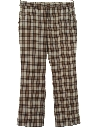 Mens Flared Plaid Golf Style Disco Pants