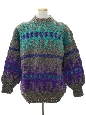 Mens Wool Totally 80s Hippie Style Sweater