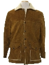 Mens Western Suede Leather Car Coat Jacket