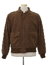 Mens Totally 80s Leather Bomber Style Jacket