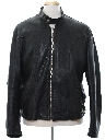Mens Mod Cafe Racer Leather Motorcycle Jacket