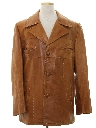 Mens Mod Leather Car Coat Jacket