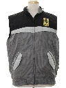 Mens Totally 80s Ferrari Racing Ski Style Vest Jacket