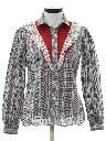 Womens Prairie Style Ruffled Western Shirt