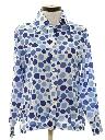 Womens Mod Print Disco Style Shirt
