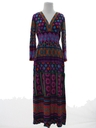 Womens Mod Print Maxi Hippie Dress