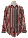 Mens Mod Striped Print Shirt