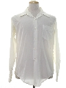 Mens Solid Nylon Disco Style Shirt