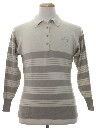 Mens Totally 80s Preppy Knit Shirt
