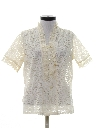 Womens Ruffled Totally 80s Lace Shirt
