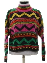 Womens Totally 80s Cropped Sweater