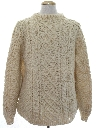 Mens Cable Knit Wool Sweater