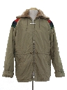 Mens Totally 80s Car Coat Style Ski Jacket