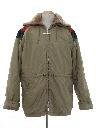 Mens Totally 80s Car Coat Style Ski Jacket