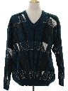 Mens Totally 80s Leather Accented Cosby Sweater