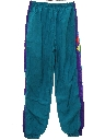 Mens Totally 80s Baggy Hip Hop Style Track Pants