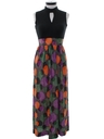 Womens Mod Print Maxi Dress