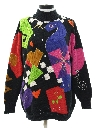 Womens Totally 80s Abstract Sweater