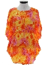 Womens Butterfly Pleated Hawaiian Shirt