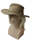 Mens Accessories - Leather Western Cowboy Style Hat