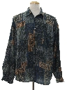 Mens Totally 80s Graphic Print Shirt