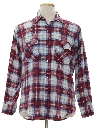 Mens Flannel Western Style Shirt