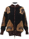 Womens Totally 80s Leather Accented Sweater