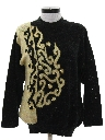 Womens Totally 80s Beaded Sweater