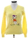 Womens Snoopy Golf Sweater
