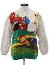 Womens Totally 80s Embroidered Golf Sweater
