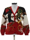 Womens Kitschy Totally 80s Western Style Cardigan Sweater