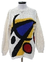 Womens Totally 80s Picasso Inspired Sweater