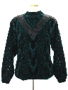 Mens Totally 80s Leather Accented Cosby Style Sweater