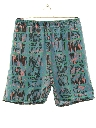 Mens Totally 80s Print Baggy Board Shorts