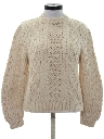 Womens Cable Knit Ski Sweater