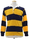 Mens Preppy Totally 80s OP Rugby Style Shirt
