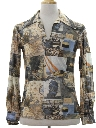 Mens Mod Pullover Photo Print Shirt