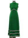 Womens Mod Maxi Knit Dress