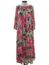 Womens Hawaiian Inspired Muu Muu Style Lounge Dress
