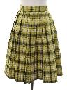 Womens Mod Pleated Plaid Skirt