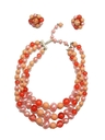 Womens Accessories - Necklace & Clip On Earrings