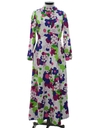 Womens Pow-Flower Mod Knit Maxi Dress