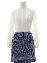 Womens Mod Mini Knit Dress