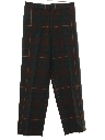 Mens Totally 80s Preppy Baggy Wool Slacks Pants