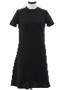 Womens Mod Knit A-Line Dress