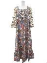 Womens Prairie Style Hippie Maxi Dress
