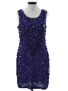 Womens Wicked 90s Beaded Cocktail Mini Dress