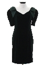 Womens Totally 80s Velvet Wiggle Prom Or Cocktail Dress