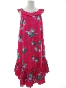 Womens Totally 80s Hawaiian A-Line Muu Muu Dress