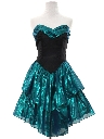 Womens Totally 80s Mini Prom Or Cocktail Dress